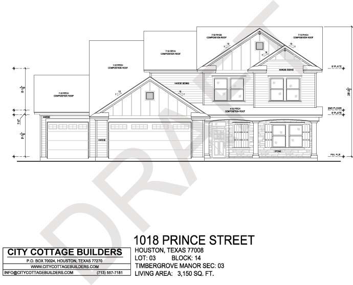 Sale pending city cottage builders for Build on your lot houston floor plans